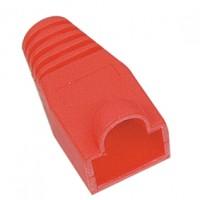 Kabel huls rood  (RJ45 boot) voor RJ45 connector