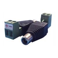 Professionele Voeding plug male 5.5mm/2.1mm met schroefaansluiting